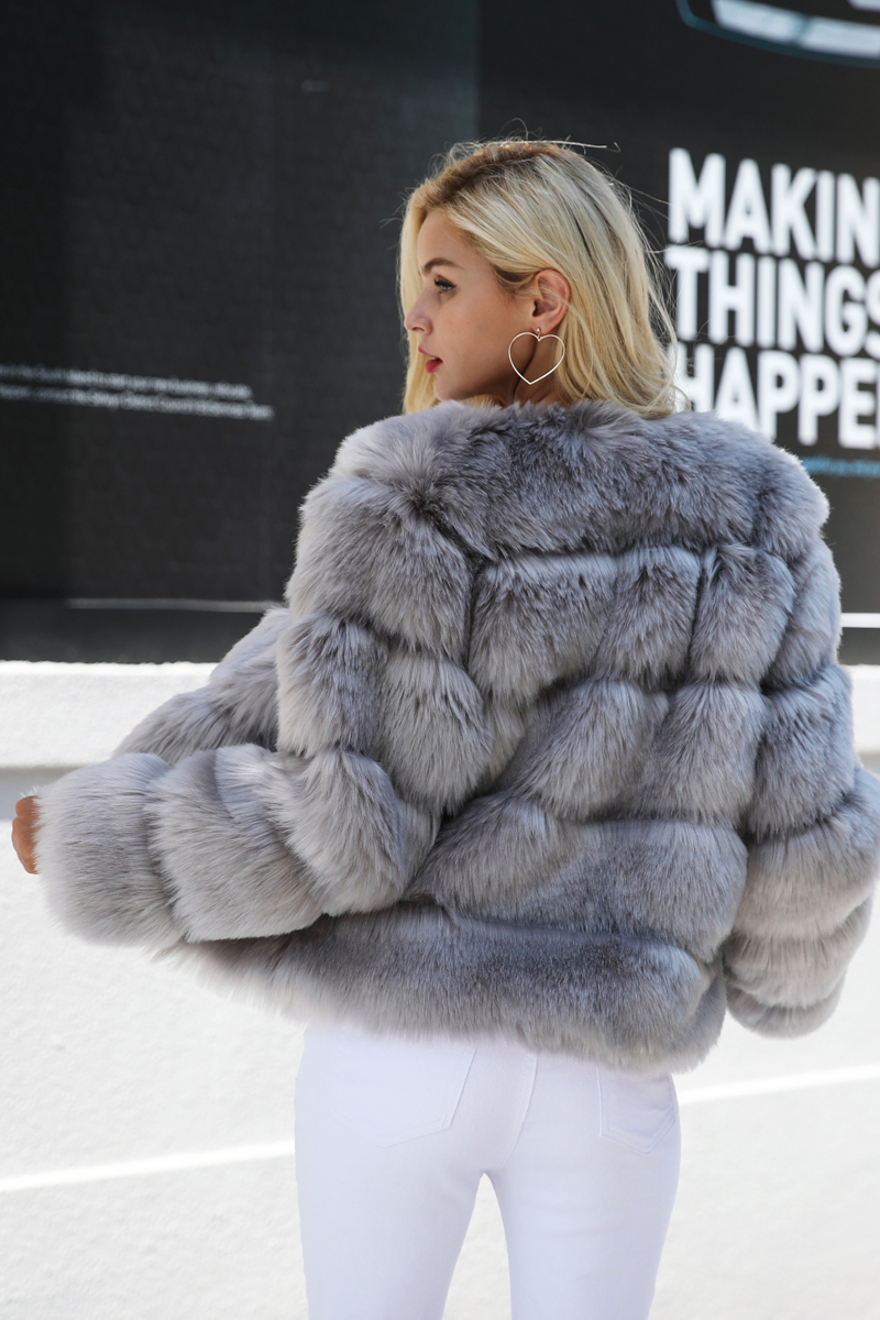 Vintage Fluffy Faux Fur Coat - Digetui