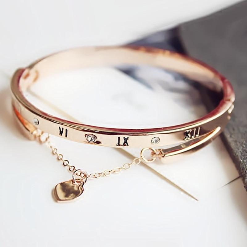 Luxury Rose Gold Bracelet Bangle Digetui
